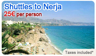 Shuttles to Nerja 25 € per person!